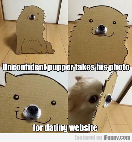Unconfident Pupper Takes His Photo For Dating...