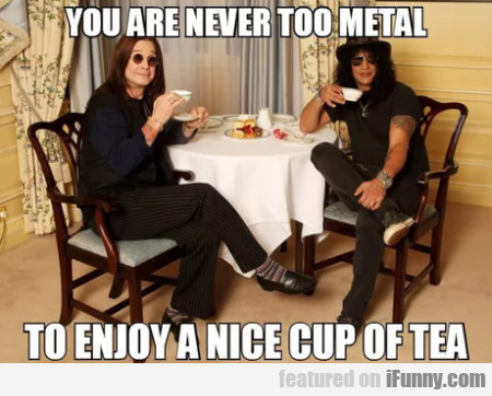 You Are Never Too Metal To Enjoy A Nice...