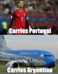 Carries Portugal - Carries Argentina