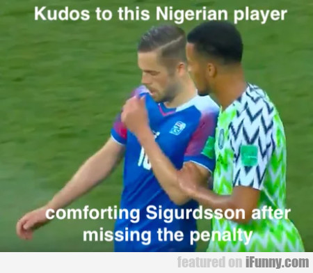Kudos To This Nigerian Player Comforting...