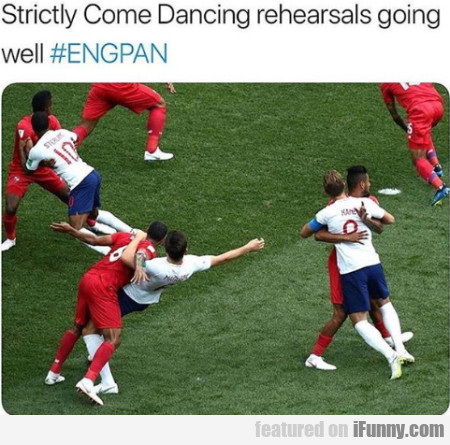 Strictly Come Dancing Rehearsals Going Well...