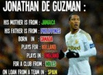 Jonathan De Guzman - His Mother Is From Jamaica...