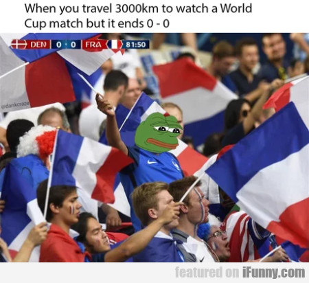 When You Travel 3000 Km To Watch A World Cup...