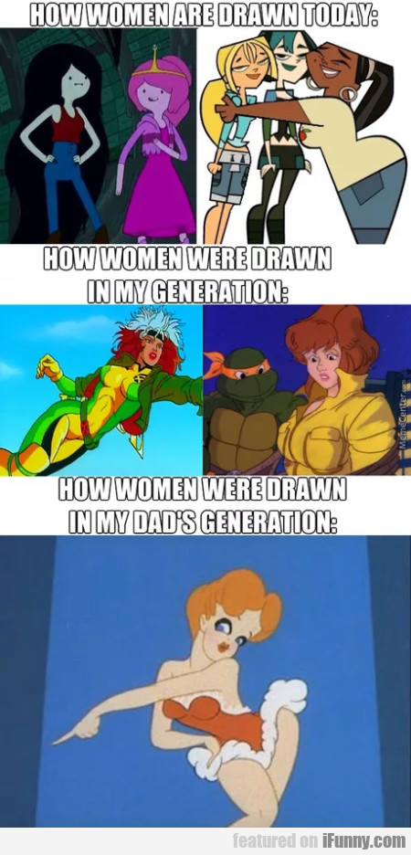 How women are drawn today - How women...
