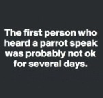 The First Person Who Heard A Parrot Speak Was...