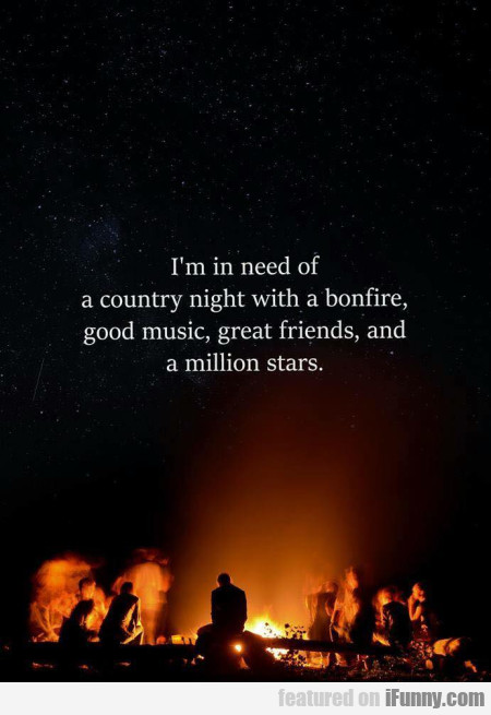 I'm in need of a country night with a bonfire...