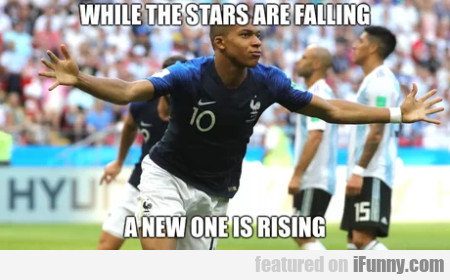 While the stars are falling a new one is rising...