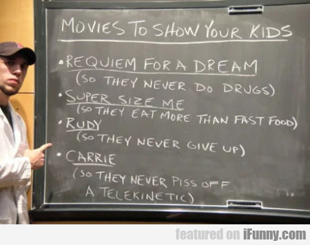 Movies To Show Your Kids - Requiem For A Dream...