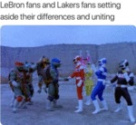 Lebron Fans And Lakers Fans Setting Aside Their...