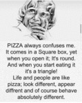 Pizza Always Confuses Me. It Comes In A Square...