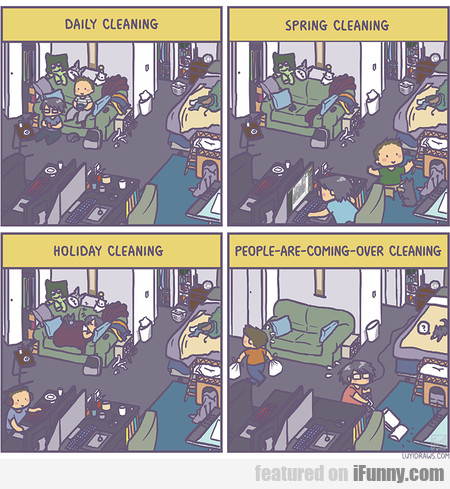 Daily Cleaning Vs. Spring Cleaning Vs. Holiday...