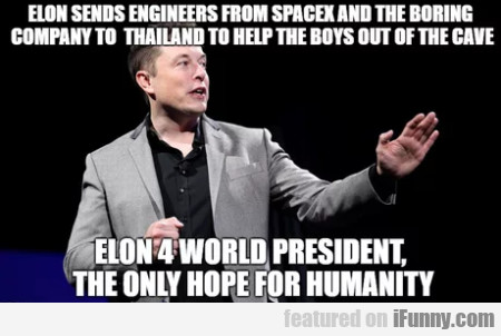 Elon sends engineers from spacex and the boring...