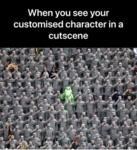 When You See Your Customised Character In A...