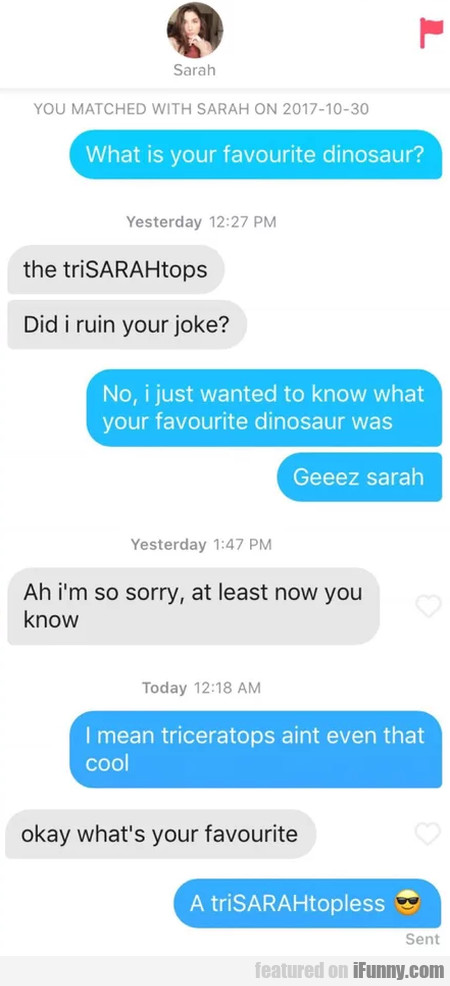 What Is Your Favorite Dinosaur? - The Trisarahtops