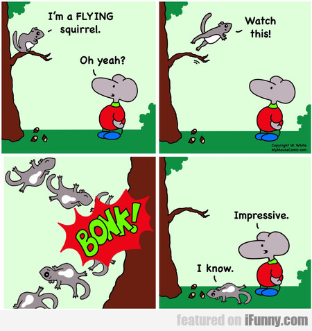 I'm A Flying Squirrel. Oh Yeah? Watch This!