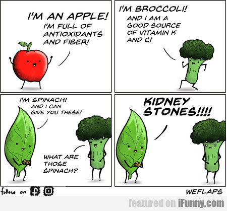 I'm An Apple! I'm Full Of Antioxidants And Fiber!