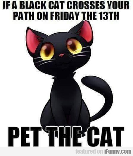 If A Black Cat Crosses Your Path On Friday The...