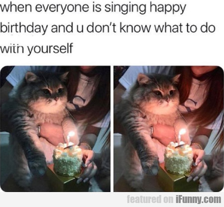 When Everyone Is Singing Happy Birthday And...