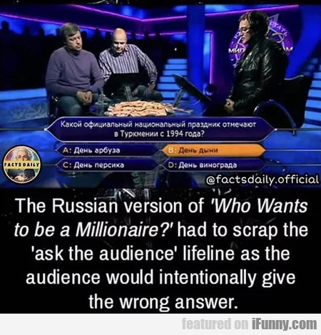 The Russian Version Of Who Wants To Be A...