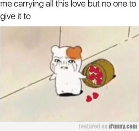 Me Carrying All This Love But No One To Give It...