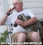 Just A Guy Enjoying A Beer With His Cat...
