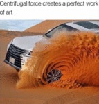 Centrifugal Force Created A Perfect Work Of Art