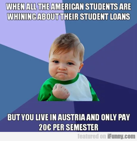 When All The American Students Are Whining About..