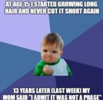 At Age 15 I Started Growing Long Hair And Never...