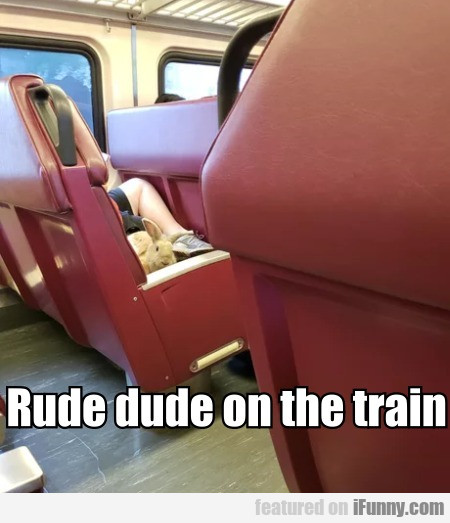 Rude Dude On The Train