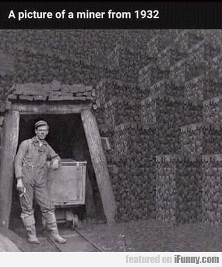 A Picture Of A Miner From 1932