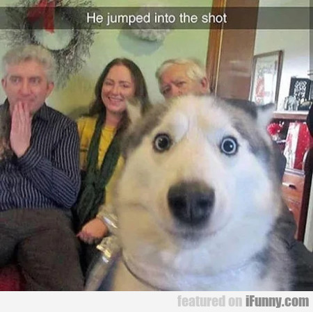 He Jumped Into The Shot