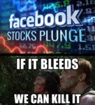 Facebook Stocks Plunge - If It Bleeds...