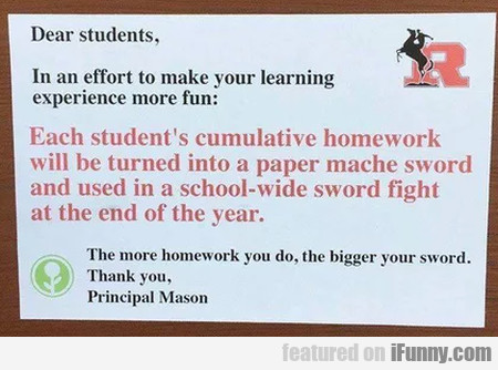 Dear Students, In An Effort To Make Your...