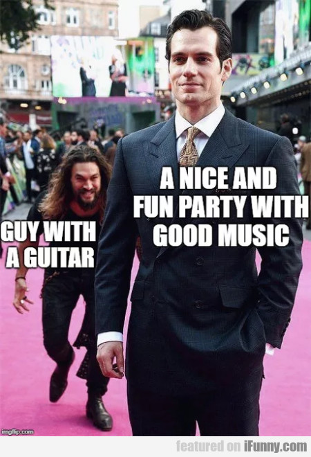 Guy with a guitar - A nice fun party with...
