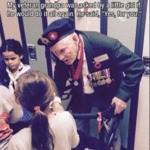 My Veteran Grandpa Was Asked By A Little Girl...