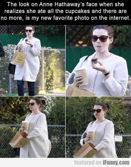 The Look On Anne Hathaway's Face When She...
