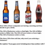 Four Ceos Of Beer Companies Are Having A...