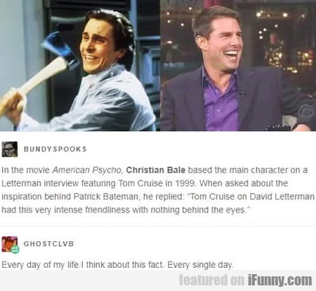 In The Movie American Psycho, Christian Bale...