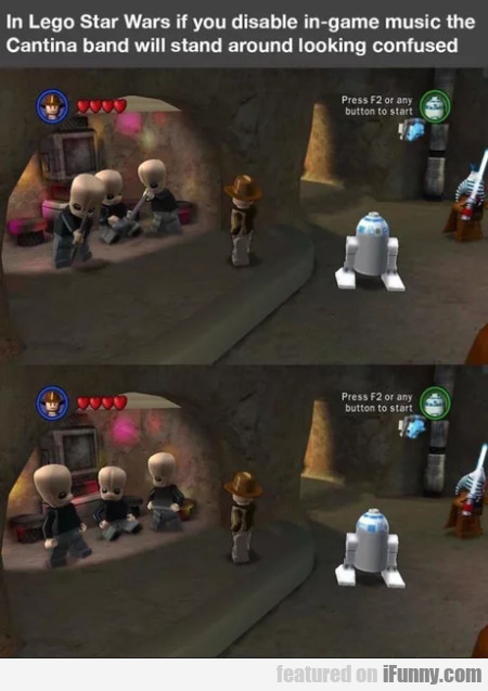 In Lego Star Wars If You Disable In-game Music...