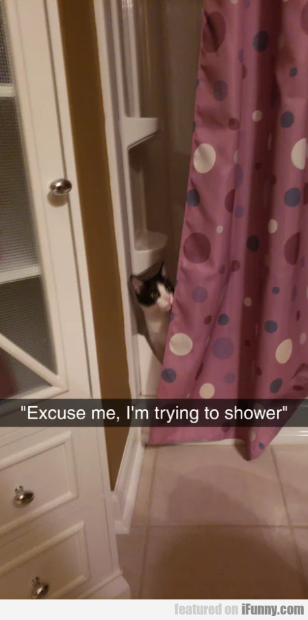 Excuse Me, I'm Trying To Shower