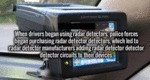 When Drivers Began Using Radar Detectors...