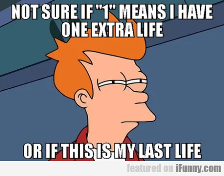Not Sure If 1 Means I Have One Extra Life Or If...