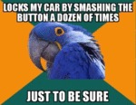 Locks My Car By Smashing The Button A Dozen...