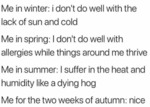 Me In Winter - I Don't Do Well With The Lack Of...