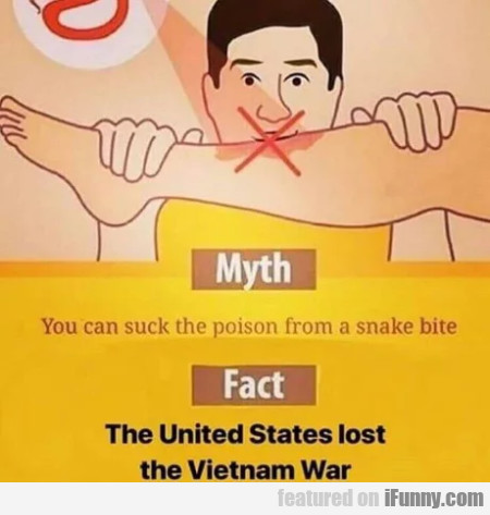 Myth - You Can Suck The Poison From A Snake Bite..