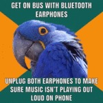 Get On Bus With Bluetooth Earphones...