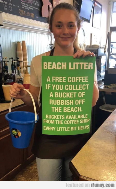Beach Litter - A Free Coffee If You Collect A.....