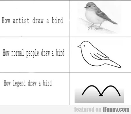 How Artist Draw A Bird - How Normal People...