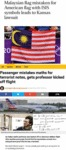 Malaysian Flag Mistaken For American Flag With...