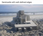 Sandcastle With Well-defined Edges...